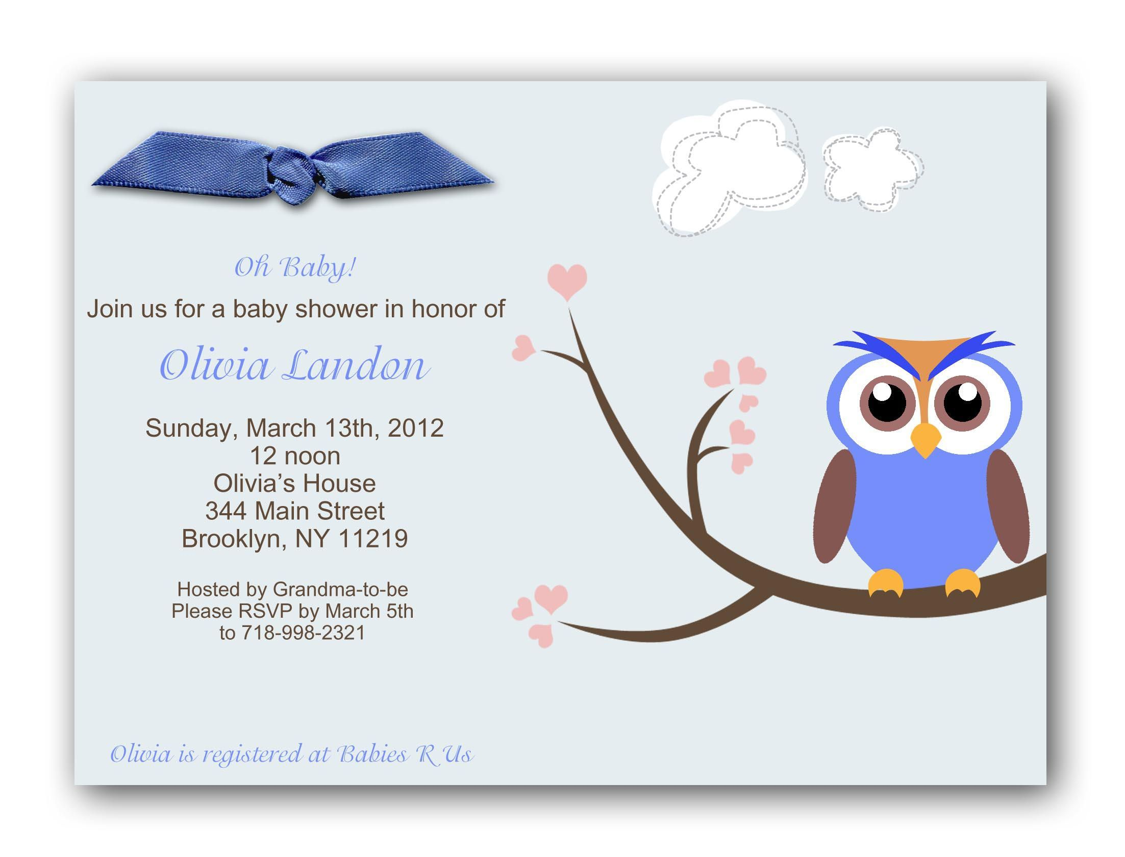 Baby Shower Invitation Wording In Spanish Invitation Templates