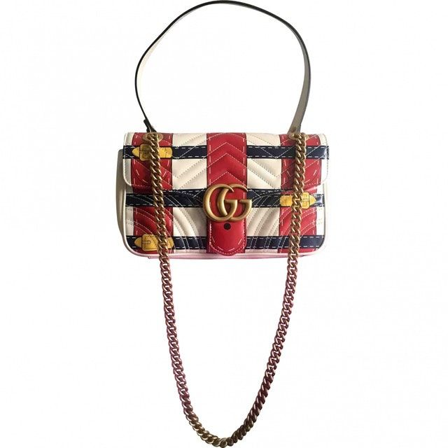 dc2f7a00b34d Limited edition Gucci Marmont Trompé l'œil médium handbag Released for  summer 2016, Vestiaire Collective