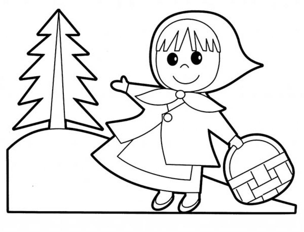 Little Red Riding Hood Coloring Book 12735 Rotkappchen Red