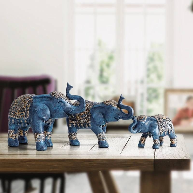 Family Elephant Figurine Resin Thailand Elephant Statue For Office Living Room Handmade Home Decorations Cute Animals Ornaments In 2021 Elephant Figurines Elephant Statue Elephant Decor Elephant decor for living room