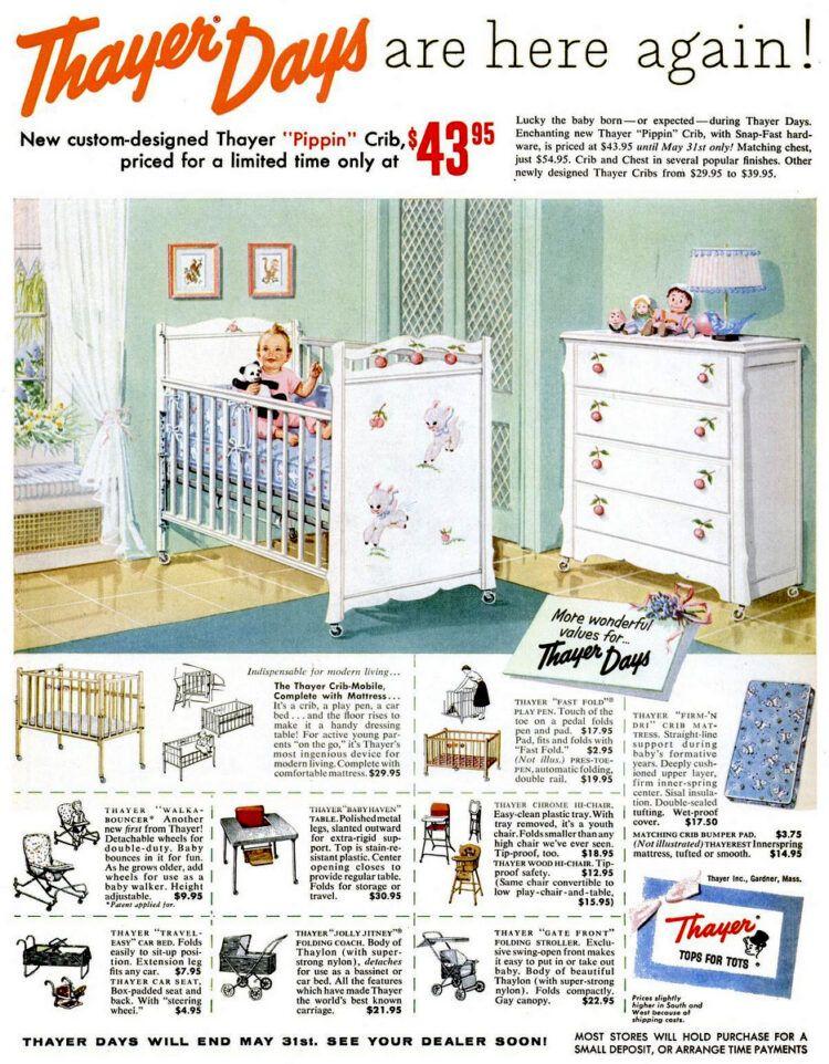 See Cute Vintage Baby Nursery Furniture Bedroom Decor They
