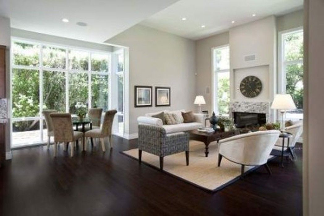 White Wall Combined With Modern Furniture On The Wooden Floor With