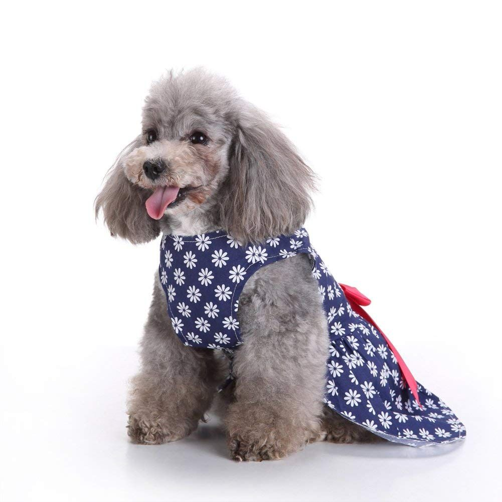 261b4167b4fc Alian Pet Summer Bowknot Floral Dress Pet Clothes Pet Dog Evening Dress  Formal Clothes Sweetie Clothes