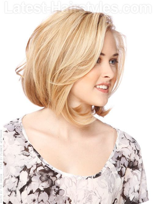 Medium Length Bob Hairstyles For Fine Hair Prepossessing Blondelayeredmediumcutview2  Feeling Pretty  Pinterest  Bobs