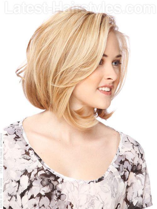 Medium Length Bob Hairstyles For Fine Hair Prepossessing Blondelayeredmediumcutview2  Feeling Pretty  Pinterest  Bobs