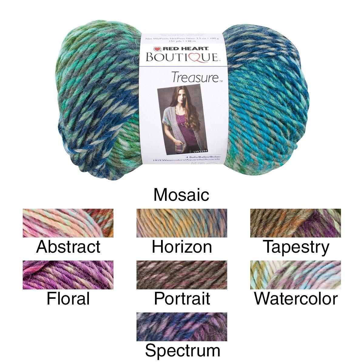 Red Heart Boutique Treasure Yarn | Fiber, Wool, Yarn, Fabric ...