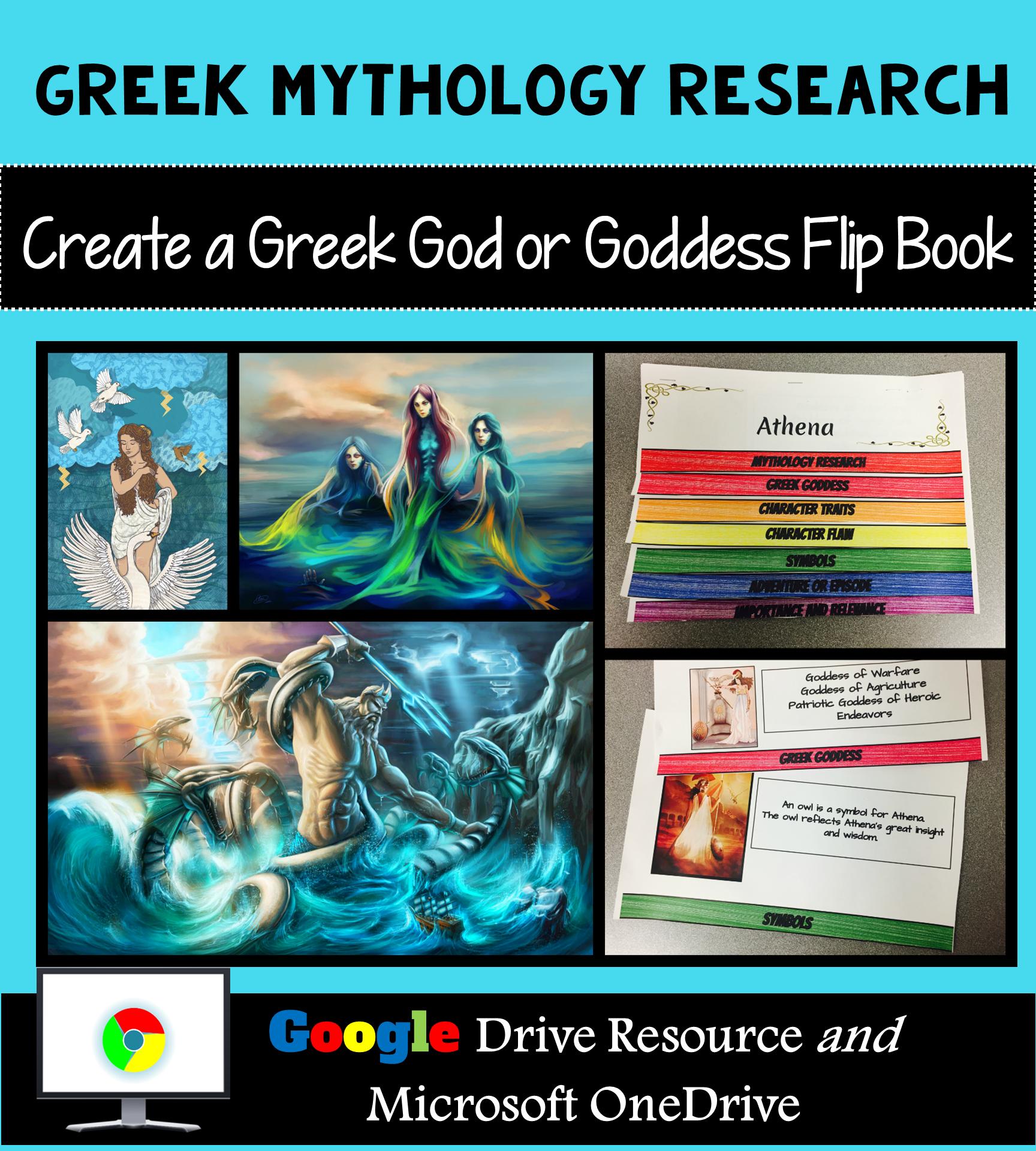 Greek Mythology Research Interactive Layered Flip Book