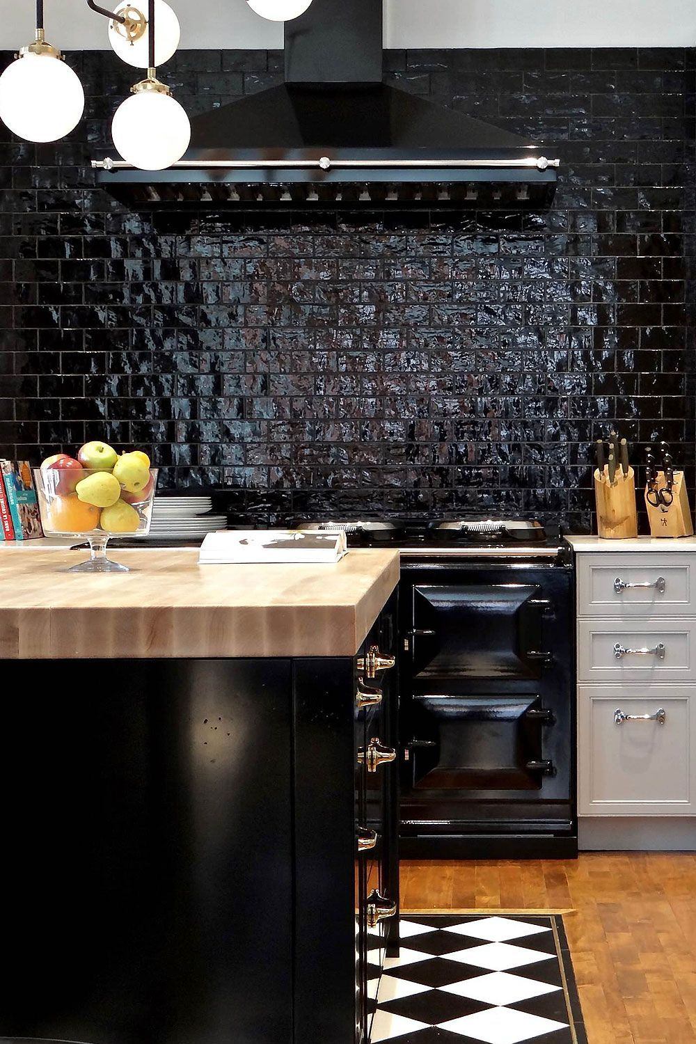 31+ Black Subway Backsplash ( Ideas ) - The Power of Black ... on Backsplash Ideas For Black Countertops  id=23761