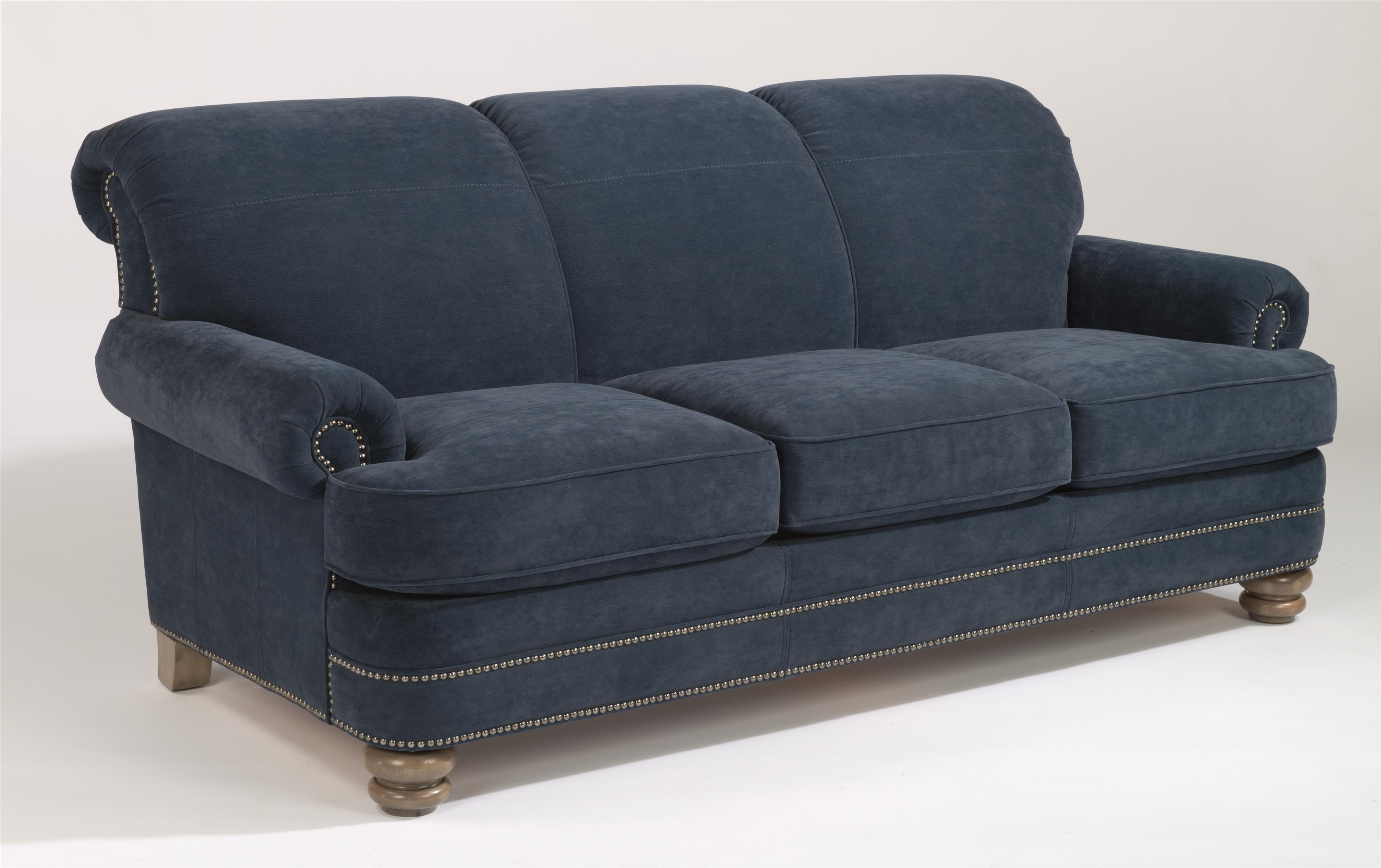 bay bridge traditional rolled back sofa by flexsteel traditional