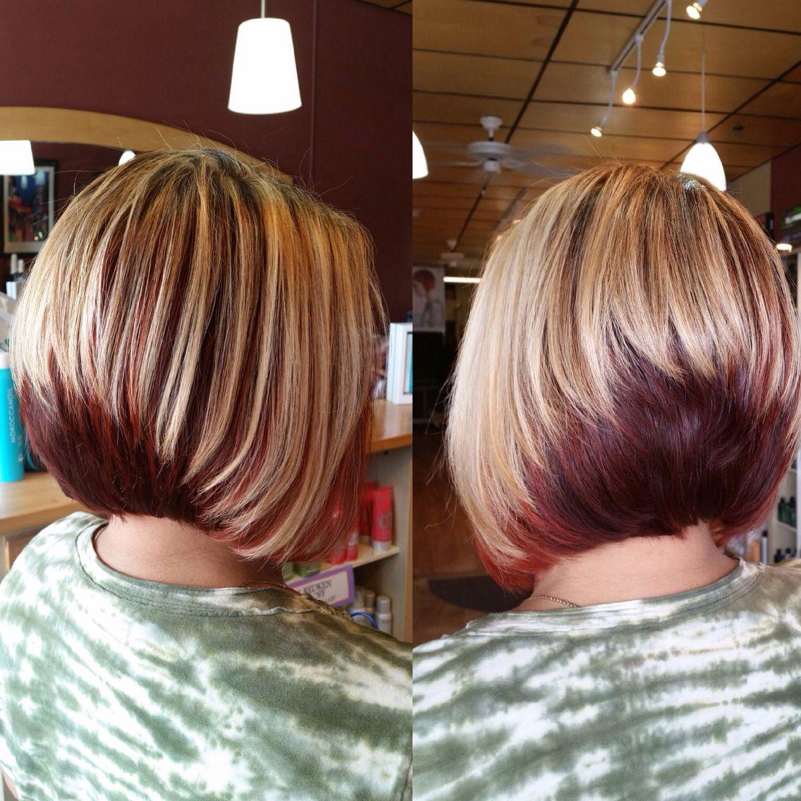 Two tone stack bob | Stacked bob haircut, Bobs haircuts, Bob hairstyles