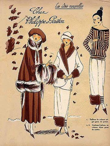 1923 Philippe et Gaston ''Les Idees Nouvelles de la Mode'' Fashion Art Deco Pochoir ''Tres Parisien''