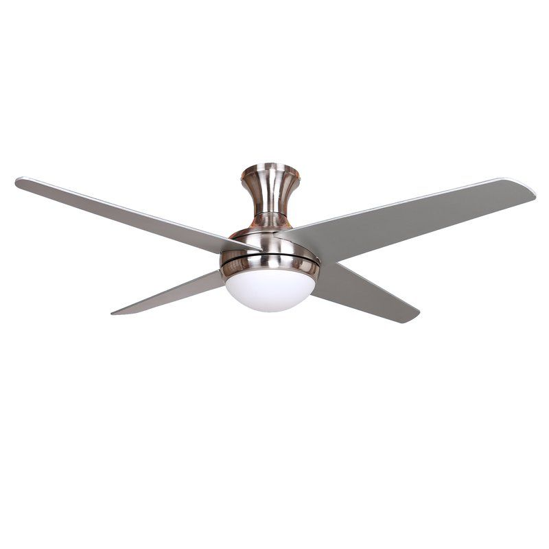 52 Couey 4 Blade Standard Ceiling Fan With Remote Control And