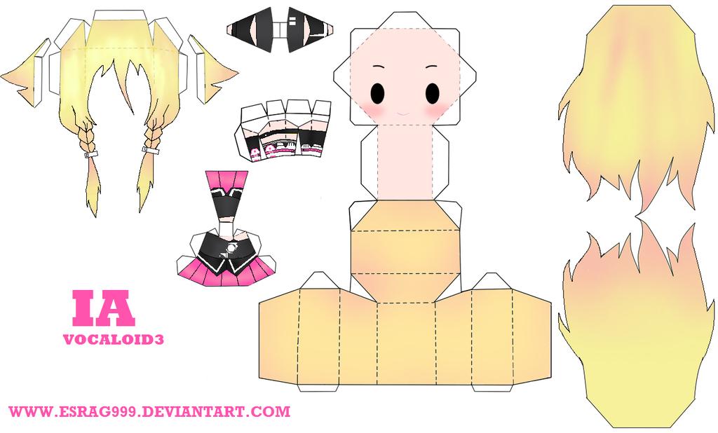 IA papercraft by esrag999 on deviantART Brinquedos de papel