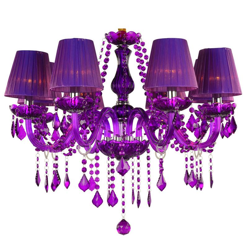 Elegant Crystal Chandelier European Style Purple Pendant Light Living Room Bedroom Hqj 90886 With Images Candle Styling Crystal Candles Candle Style Chandelier