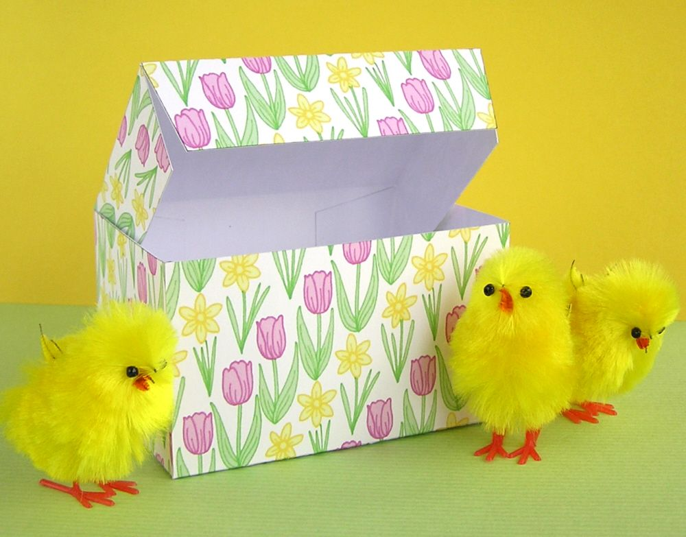 Pin by adam beadles on easter eggs and gift ideas pinterest diy printable easter gift boxes once you have the template you can trace it on paper with your favorite designs negle Choice Image