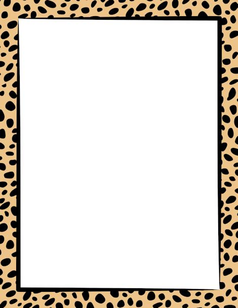 Cheetah print border. Free downloads at http://pageborders.org ...