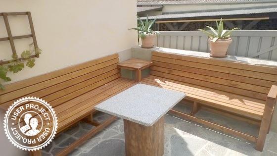 Selbstgebaute Gartenbank Balkon Selber Bauen Eckbank Garten Selber Bauen Garten