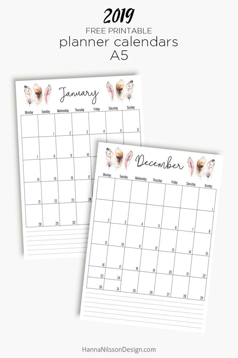 Free calendar planner ideas