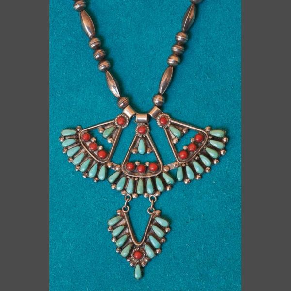 Zuni Eagle Feather Necklace