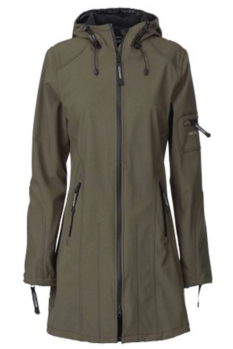 6578f397 Army green ilse Jacobsen raincoat available from www.candyplum.co.uk ...