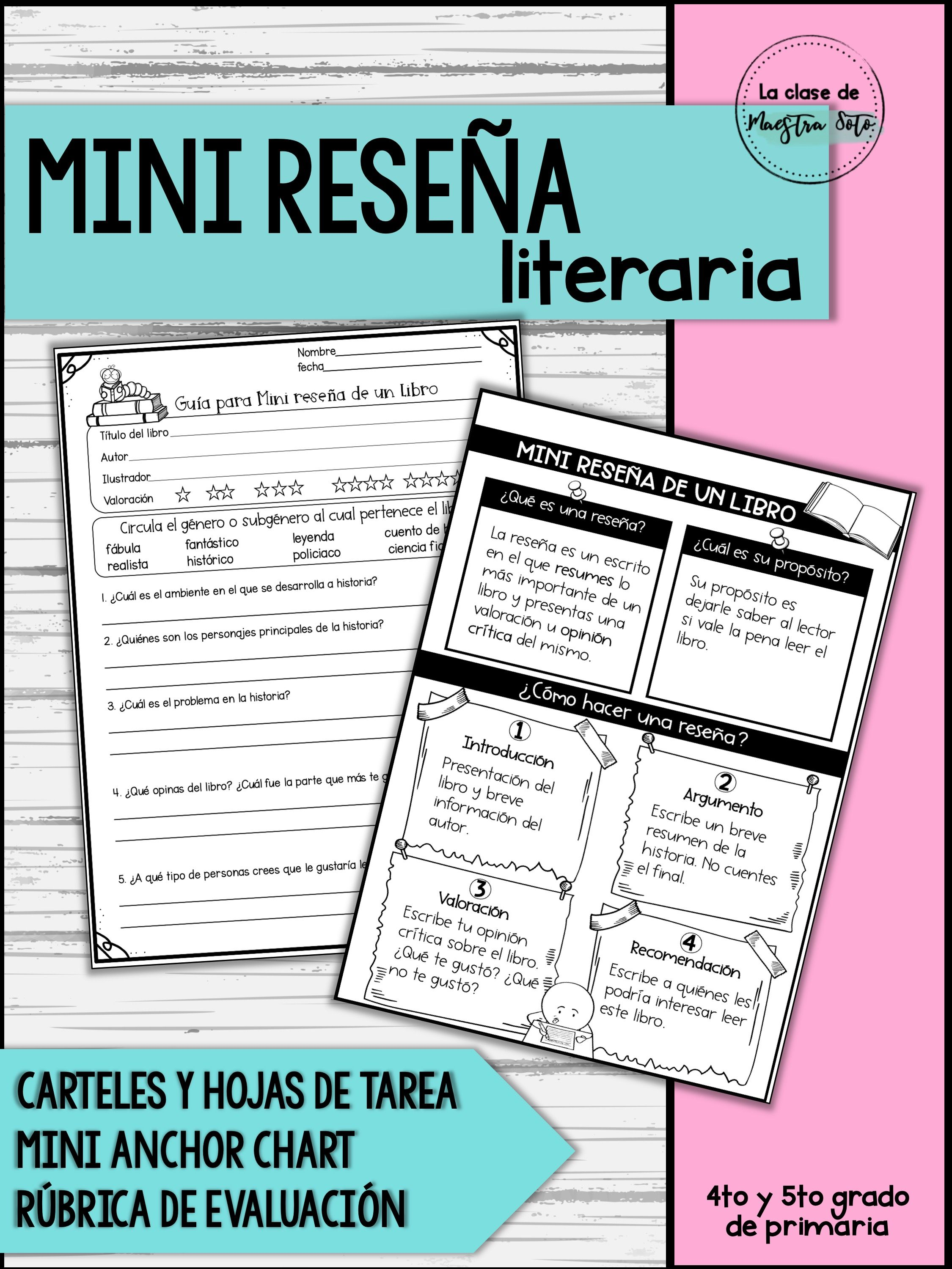 Mini Reseña Literaria Learning Education Journal