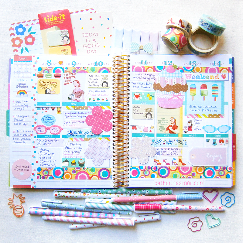 Erin Condren Planner Decorations at http://instagram.com/catherina.amor