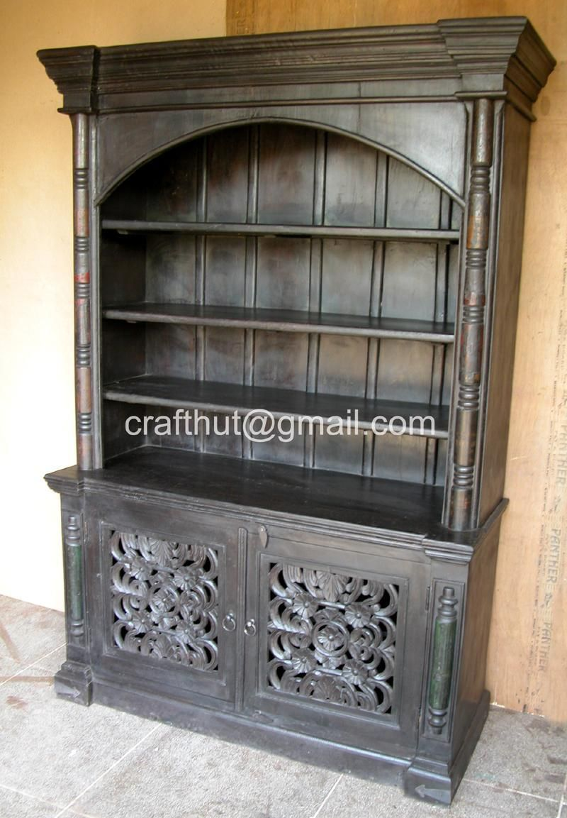 wood pipe with bookcases bookshelf glass doors antique stove