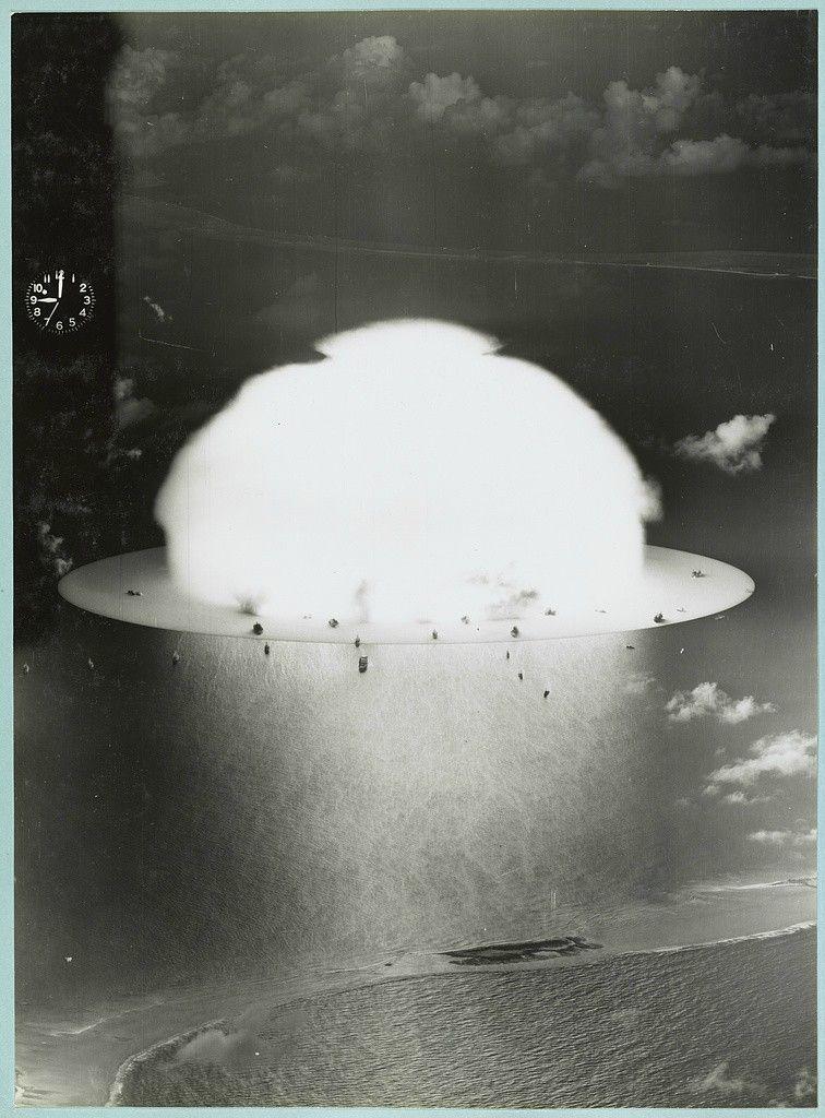 Yachts And The Sea Bikini Atoll Atomic Bomb Nuclear