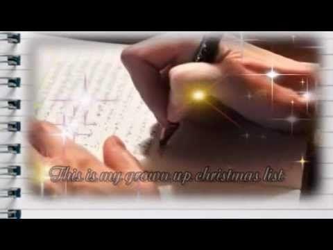 My Grown-Up Christmas List - Kelly Clarkson (with lyrics) - Such a ...