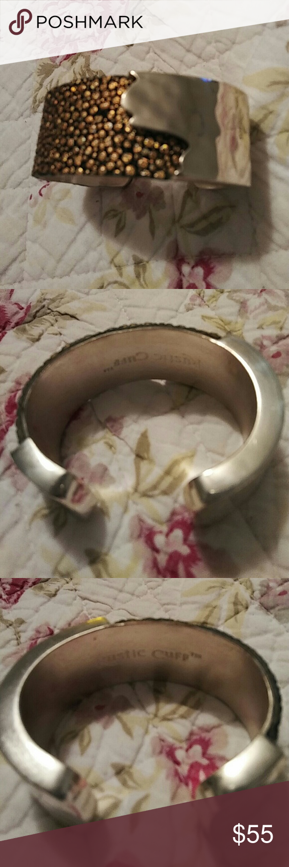 Rustic Cuff Original Gold Black & Silver! Barely worn and super original and rarely made! Very adjustable! Please let me know if you have any questions. Thank you very much! Rustic Cuff Jewelry Bracelets
