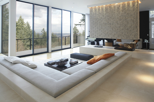 Sunken Sofa allows the view the take center stage