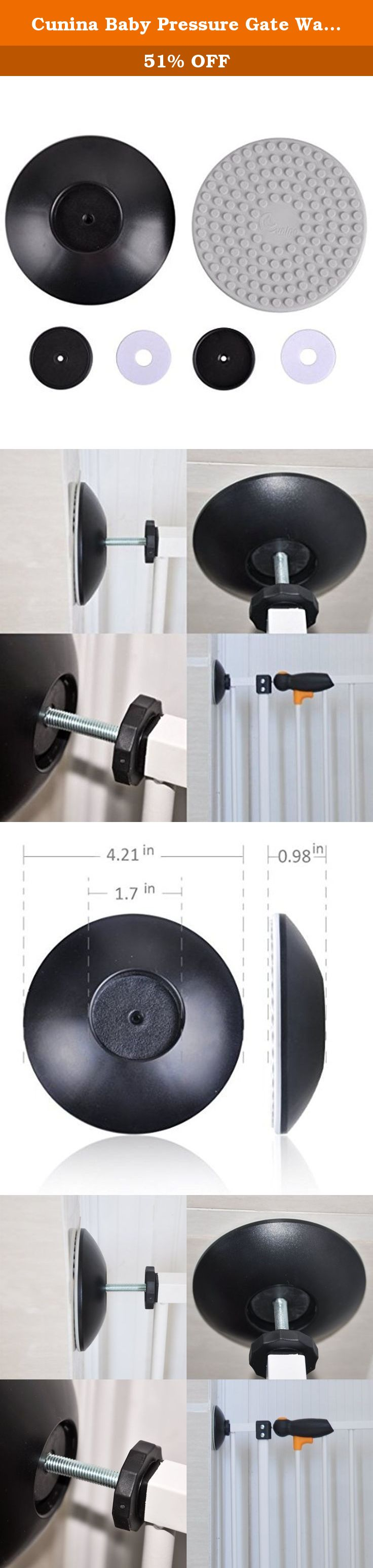 Cunina Baby Pressure Gate Wall Protector Guard Protect Door Stair Wall  Surface Also For Shower Curtain
