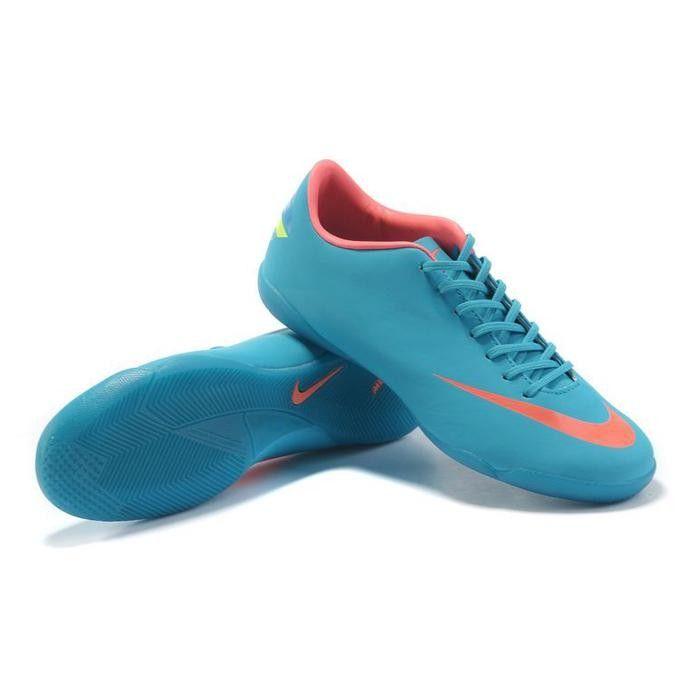 Nike Mercurial Indoor Soccer Shoes Blue Orange Indoor Shoes