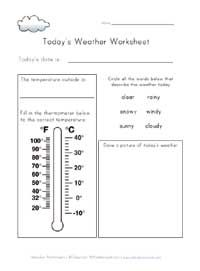 today 39 s weather worksheet weather worksheets weather worksheets todays weather 1st grade. Black Bedroom Furniture Sets. Home Design Ideas