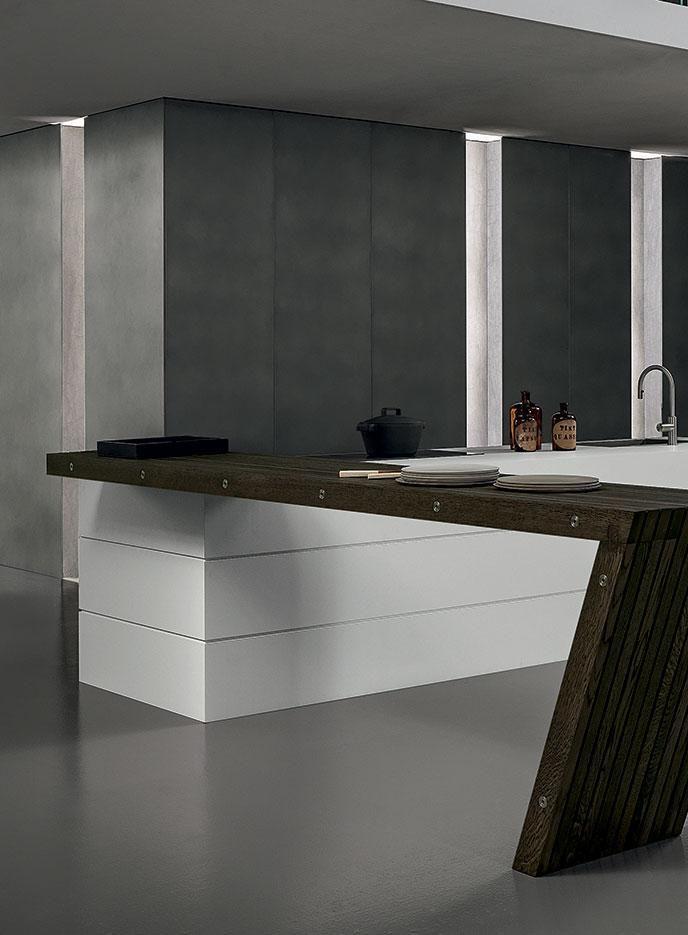 Design di cucine bagni e soggiorni moderni modulnova blade 21 foto 1