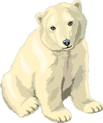 free polar bears clipart free clipart images graphics animated rh pinterest com polar bear clipart polar bear hunting clipart