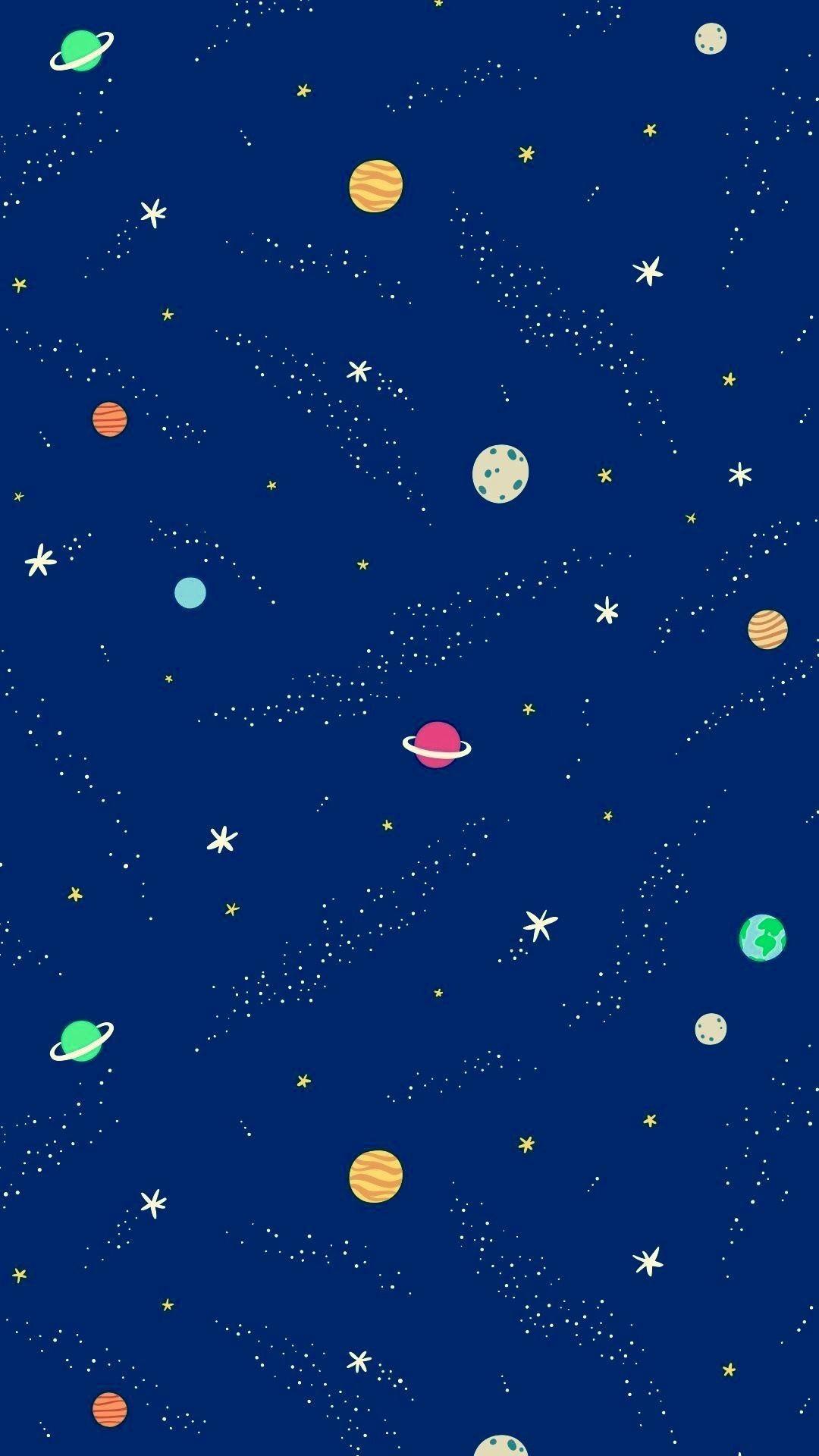 Aesthetic Moon Wallpaper Moon And Stars Wallpaper Space Themed Wallpaper Iphone Wallpaper Moon
