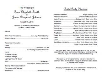 Good Traditional Wedding Program Template