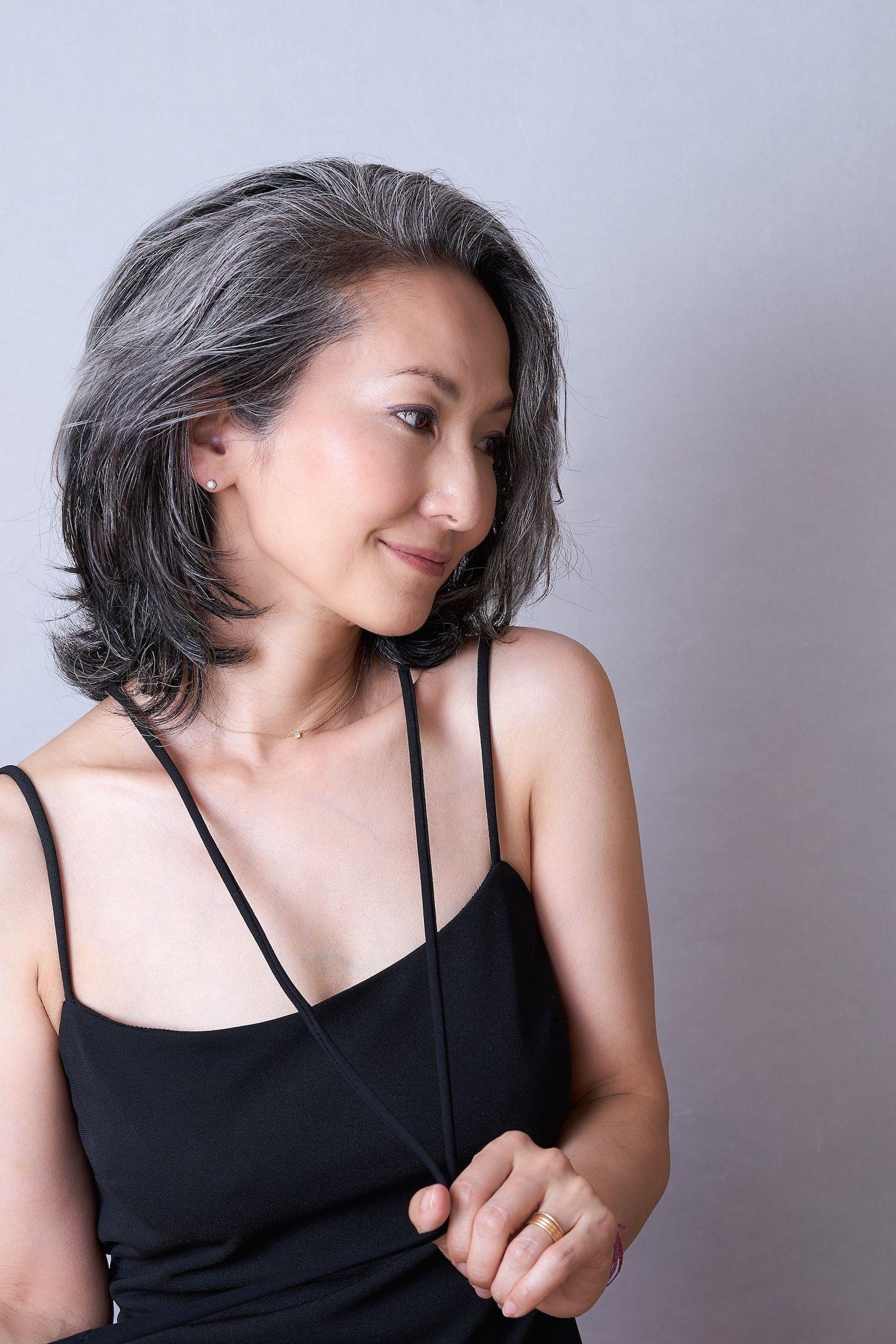 Mayuko Gray Hair Style 50 shades of silver Pinterest