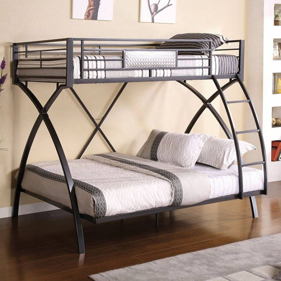 Furniture Of America Apollo Twin Over Full Bunk Bed Krovati