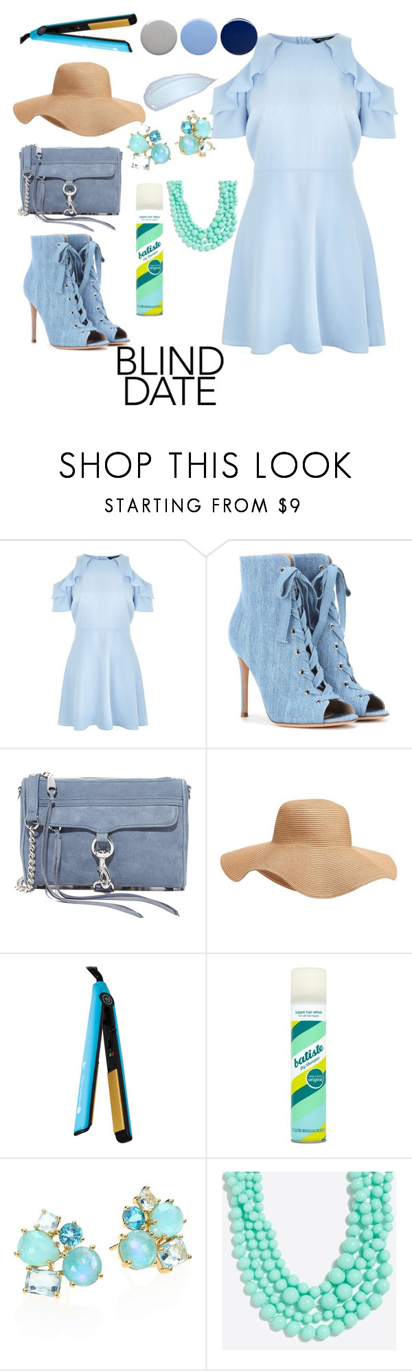 """""""Dress to Impress"""" by stephanie-barnett ❤ liked on Polyvore featuring New Look, Gianvito Rossi, Rebecca Minkoff, Old Navy, Royale, Batiste, Ippolita, J.Crew and Burberry"""