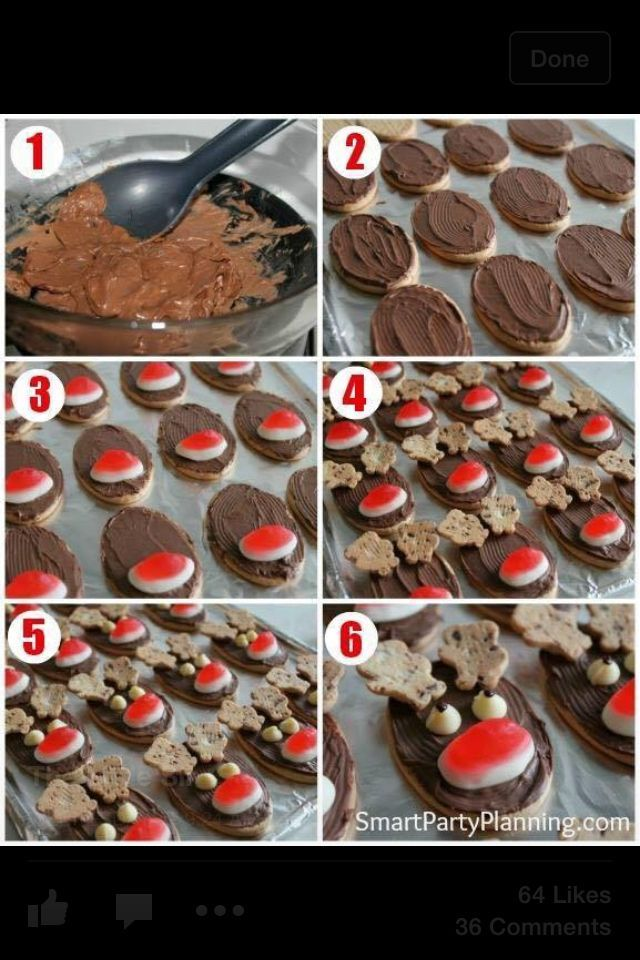 Reindeer Arrowroot Biscuits Food Ideas Christmas Reindeer
