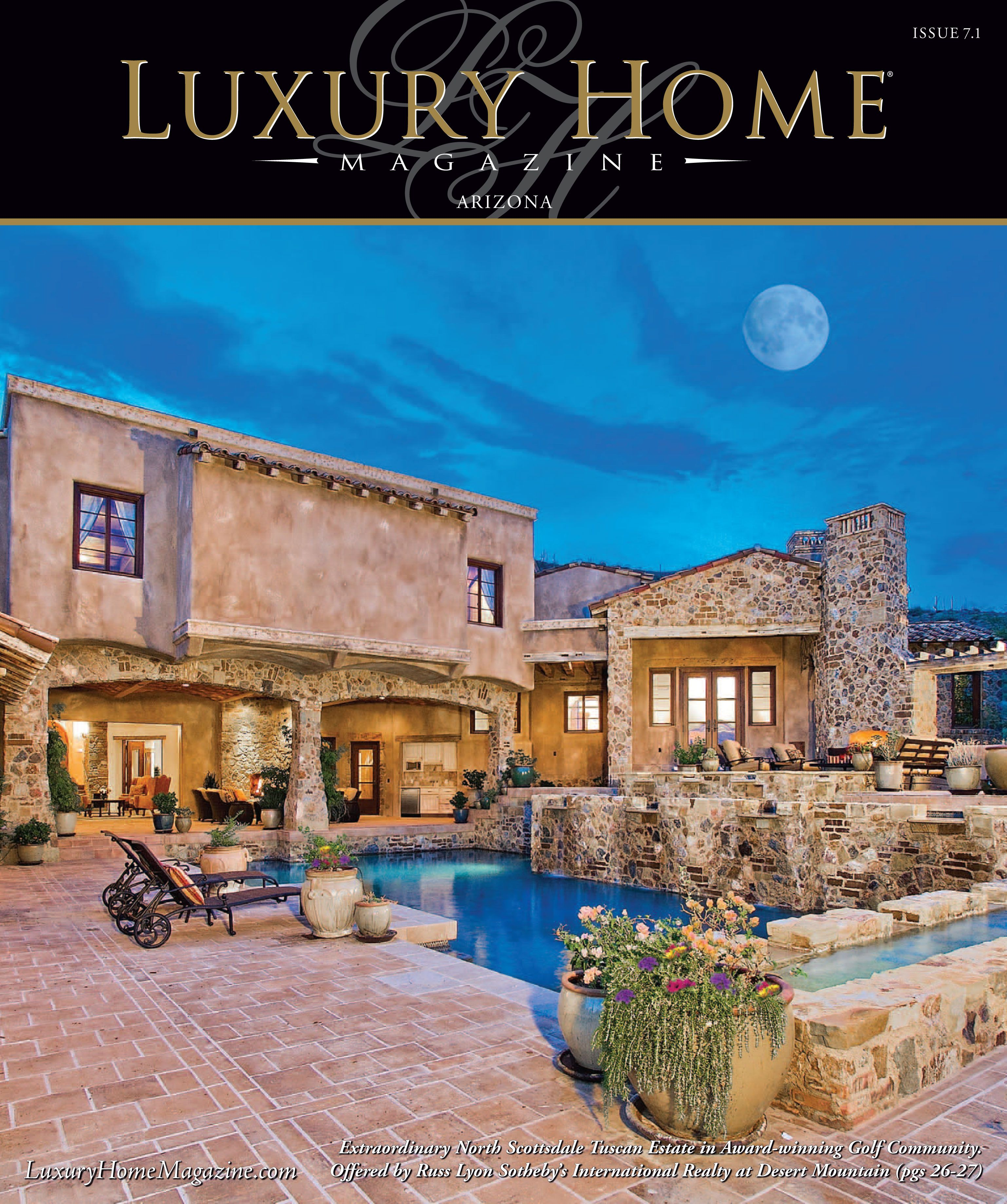Luxury home magazine arizona issue cover photography by high