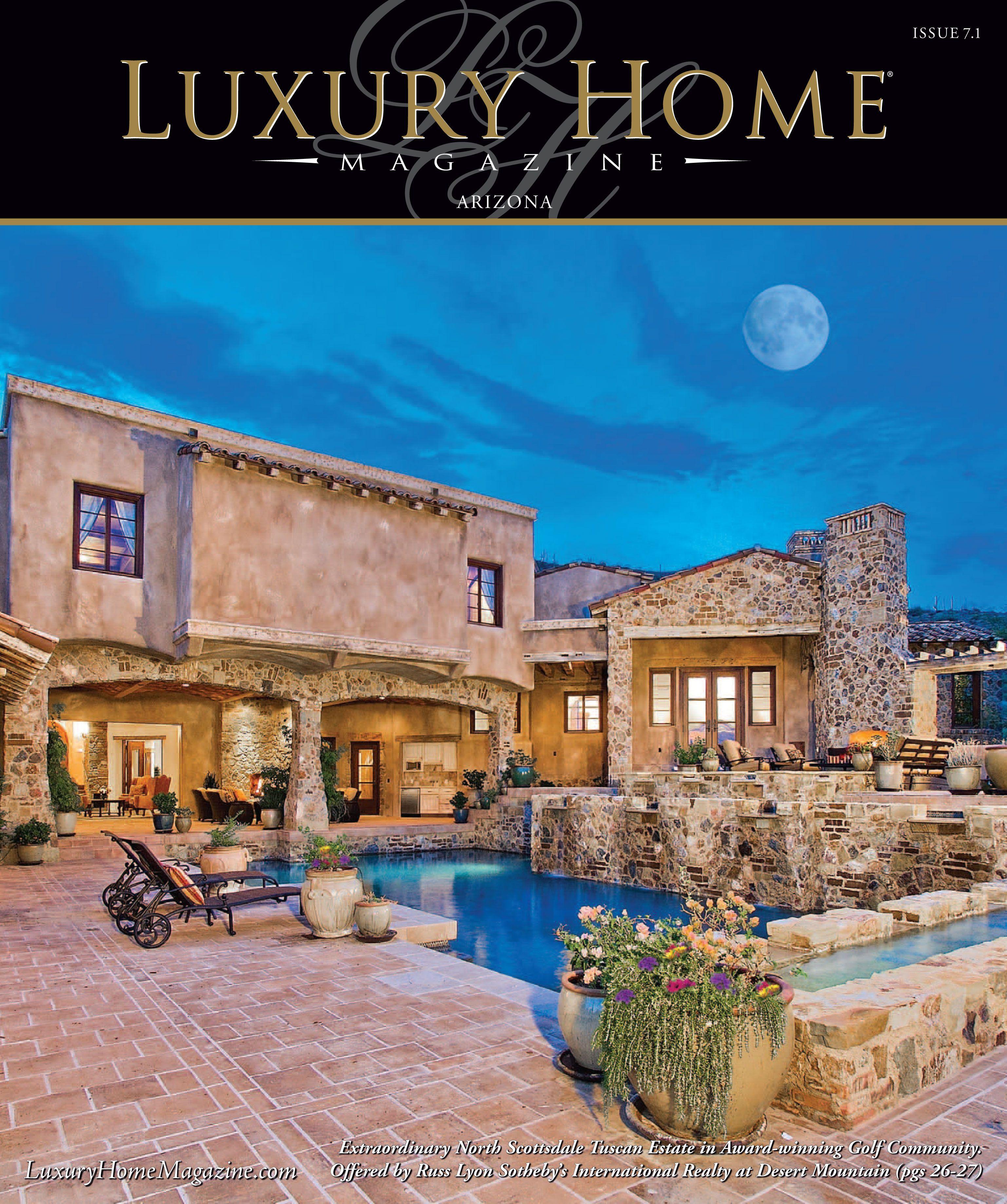 Luxury Home Magazine Arizona Issue 7.1 Cover Photography