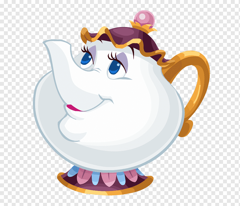 Teapot From Beauty And The Beast Beast Belle Mrs Potts Character Others Purple Fictional Character Cartoons Png Minnie Mouse Drawing Princess Illustration