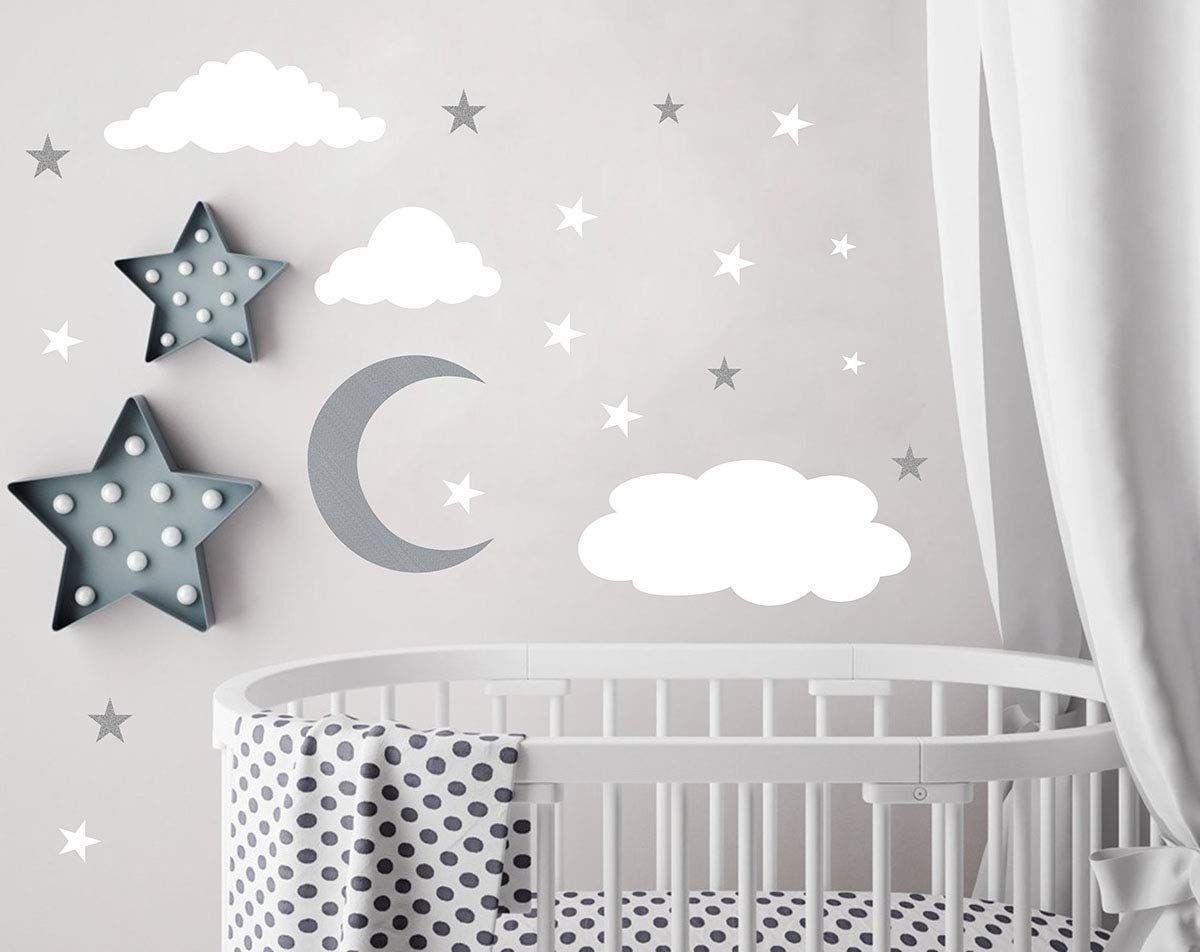 Wolken Wandtattoos Mond Und Sterne Wandtattoo Kinder Wandtattoos Wandsticker Abziehbar Und Kleben In 2020 Mit Bildern Babyzimmer Dekor Wandtattoo Kinder Wandtattoos
