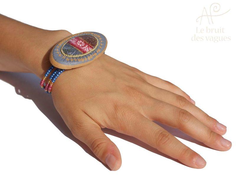 Bracelet Le Bruit Des Vagues, montage original