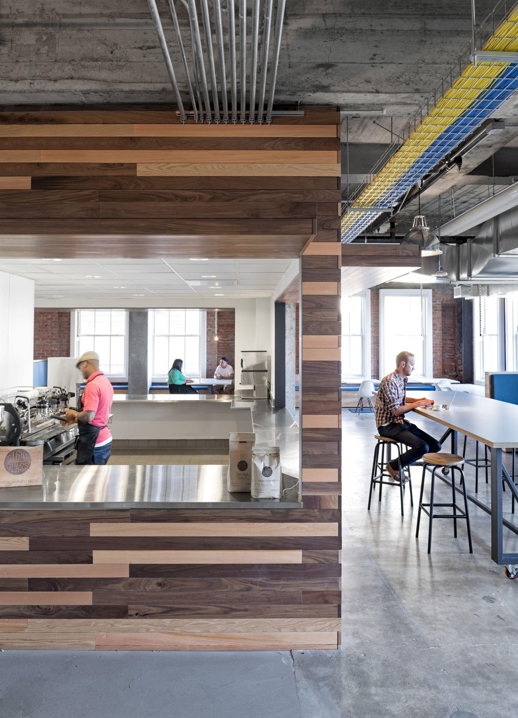 office define. Yelp Corporate Office. Exposed Brick Walls \\u0026 Concrete Define The New Headquarters Office C