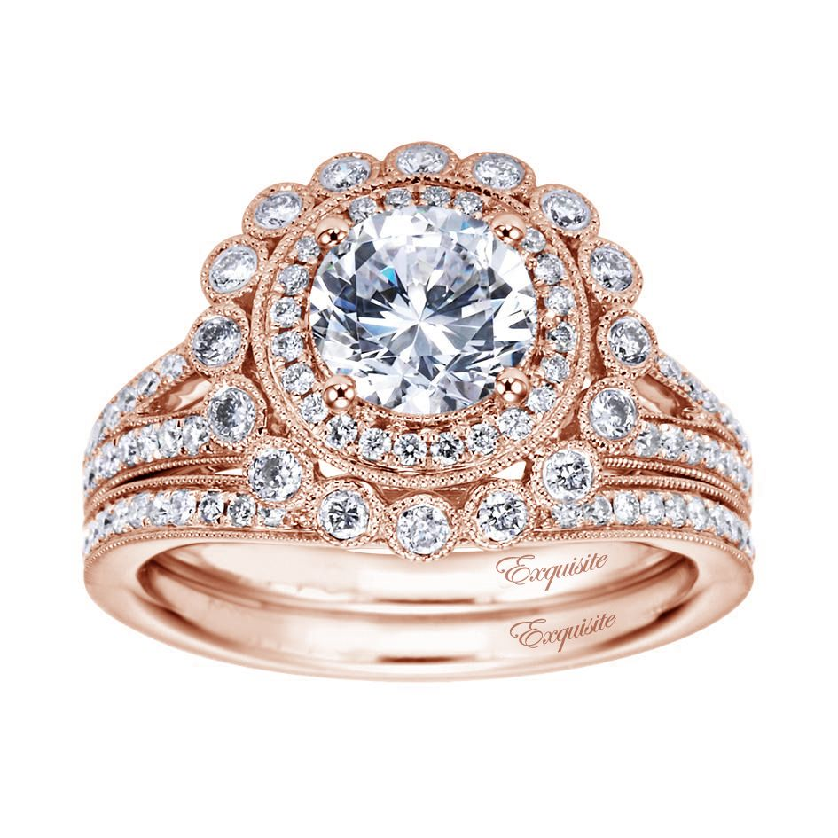 Antique engagement rings in rose gold best jewels u accessories