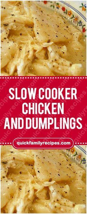 Slow Cooker Chicken and Dumplings #slowcooker #chicken #dumplings #easyrecipe #delicious #foodlover #homecooking #cooking #cookingtips #chickendumplingscrockpot